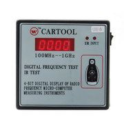 CARTOOL Digital Frequency Tester IR Tester Remote Key Frequency Tester (Frequency Range 100-1GMHZ)