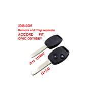 2005-2007 Remote Key For Honda 2+1 Button And Chip Separate ID:13 ( 315 MHZ ) fit ACCORD FIT CIVIC ODYSSEY
