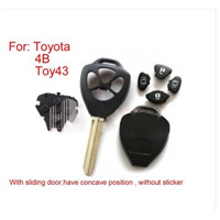 Remote Key Shell 4 Button Without Sticker for Toyota 10pcs/lot