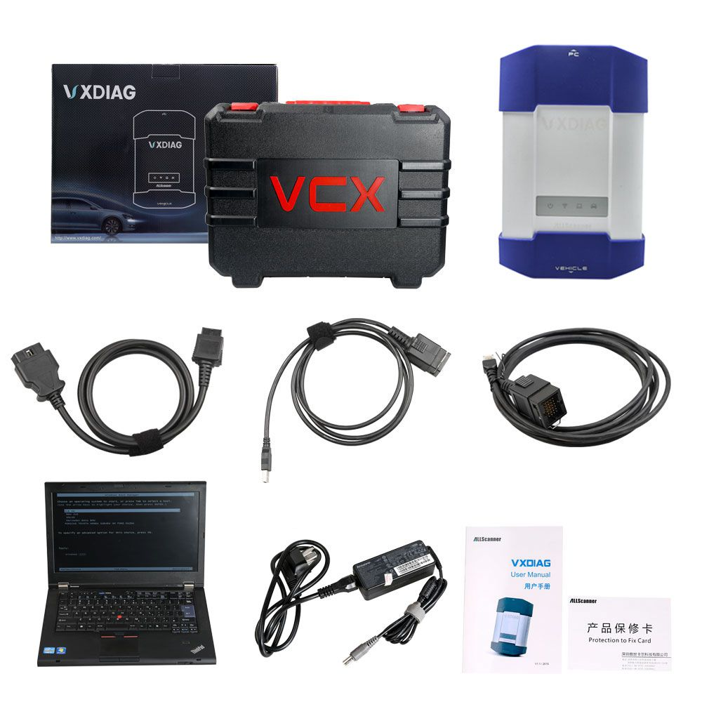 VXDIAG Multi Diagnostic Tool for Full Brands including HONDA/GM/VW/FORD/MAZDA/TOYOTA/PIWIS/Subaru/VOLVO/ BMW/BENZ with 1TB HDD and Lenovo T420